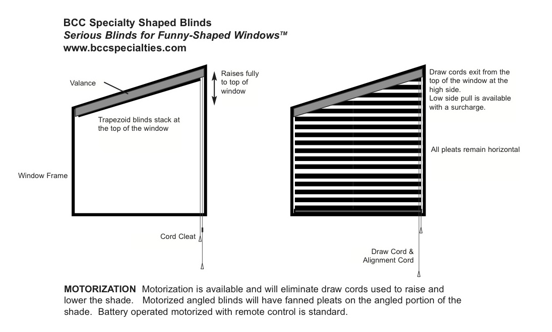 Angled Blinds Triangular Blinds Trapezoid Blinds